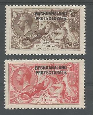 BECHUANALAND SG88-9 THE 1920-3 GV BW 2/6d & 5/- SEAHORSES FINE MINT CAT £200