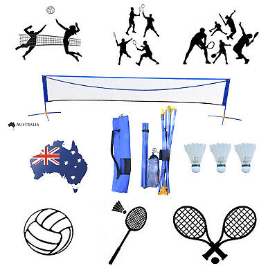 17'X5' 3in1 Height Adjustable Badminton Tennis Volleyball Net Set with Stand