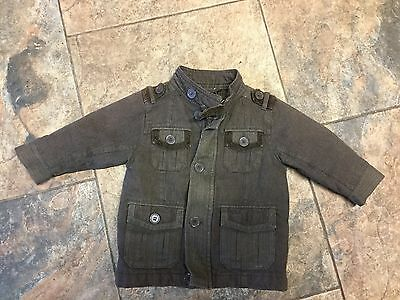 Baby Boys Smart Next Jacket Coat Age 9/12 Months  Patches On Elbows
