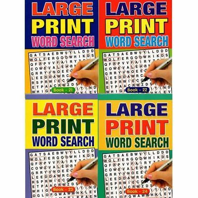 Assorted Design A5 Large Print Word Search Book Activity Kids Travel Journey Fun