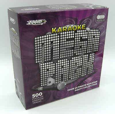 Karaoke CDG Discs -- Zoom Karaoke Mega Party Pack. 500 Backing Tracks 26 Discs