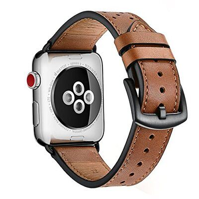 42mm Apple Watch Band iWatch Leather Replacement Band Strap for Series 1 2 Brown