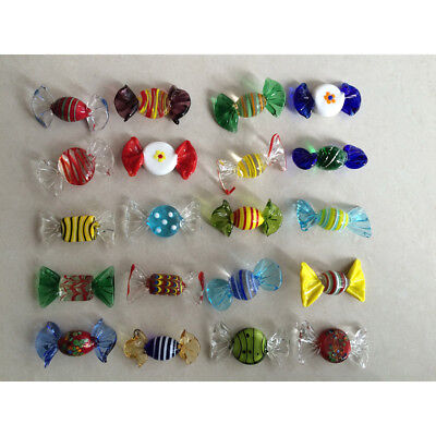 12/20pcs Vintage Murano Glass Sweets Wedding Xmas Party Candy Decorations Gift