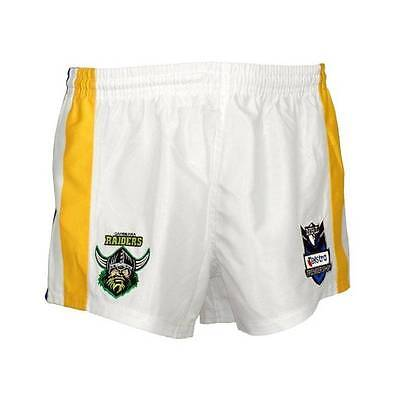 NRL Canberra Raiders Mens Supporter Football GYM Shorts, S-XL, Final Clearance