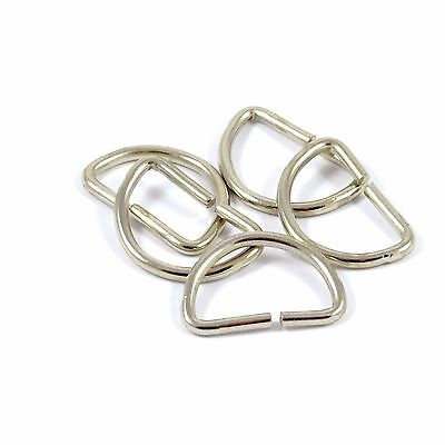 25mm 1 in. Chrome Metal D-ring Dee Loop for Straps Bag Making (M073)