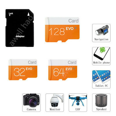 128GB 32GB 64GB Micro SD TF Flash Memory Card & SD Adapter for Cam Phone Lot Pro