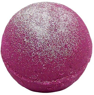 Bath Bomb 5.5 oz Sugar Frosted Plum w Kaolin Clay & Coconut Oil