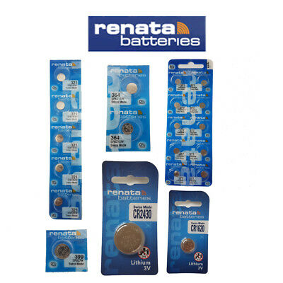 Renata battery Swiss made silver oxide 1.55v lithium 3v watch ALL SIZES x 10