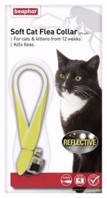 Beaphar Cat Flea Reflective Collar, Yellow