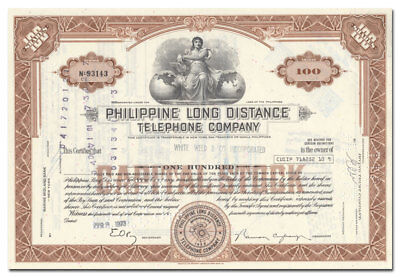 Philippine Long Distance Telephone Company Stock Certificate