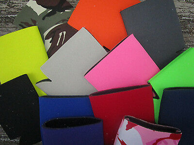 U PICK ANY Colors LOT of 25 Blank Beer Soda Can Holders Foam Coolers Koozies NEW