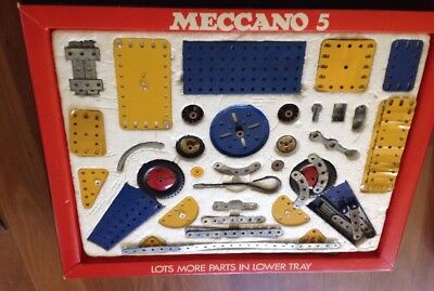 Vintage Meccano Set No.5 With Box And Model Books