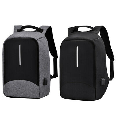 Waterproof Anti-Thief Backpack Laptop Travel School Bag w/ USB Charging + Cable