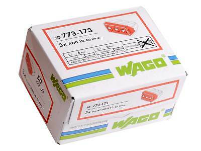 Wago 773-173 3 way Push Fit Terminal Connector Full Box of 50