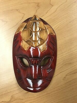 Small African Wooden  Hand Carved Mask
