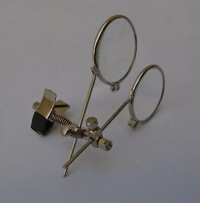 Double Lens Eye Glass With Clip 3.3x & 5.5x Spectacles Magnifier Clip On
