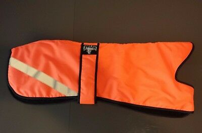 Hi Viz Greyhound Waterproof Coat, Padded & Fleece Lined Various Sizes