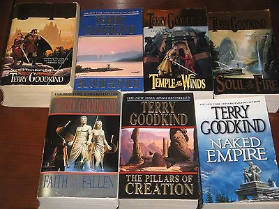 Terry Goodkind Sword of Truth pb lot 2-8 Stone of Tears+Blood of Fold+Temple+