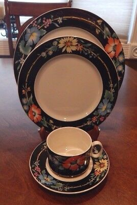 "Villeroy & Boch ""Xenia"" Pattern 4 Piece Place Setting (S) Excellent!"