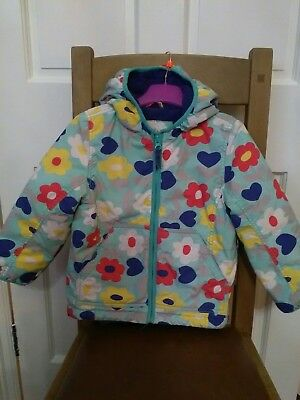 Mini Boden girls coat with fleece lining age 3-4 years