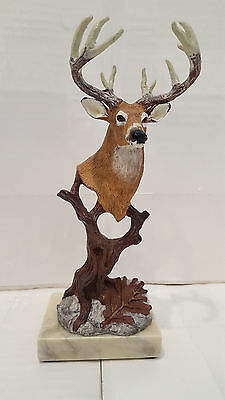 "9"" Decorative Buck Bust Statue or Deer Head Sculpture with Antlers"