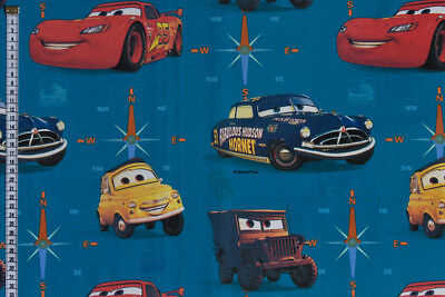 Disney Pixar Cars Fabric - Hornet & Friends, 100% Cotton, Curtains & Cushions