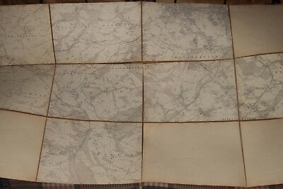 LARGE VINTAGE HESSIAN BACKED FOLD OUT MAP. BARNSLEY/PENISTONE. Good Condition.