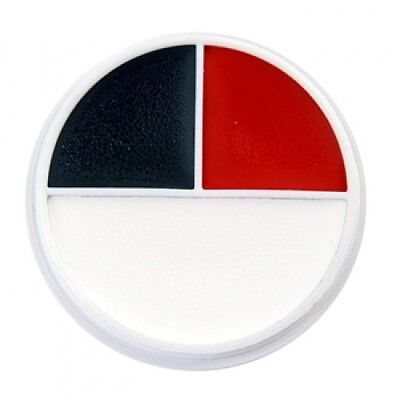 Ben Nye Red, White & Black Character wheel (3 Colors) - Professional Size