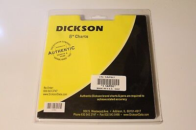 "DICKSON C482 Charts 8"" 31 day Celsius and %RH"