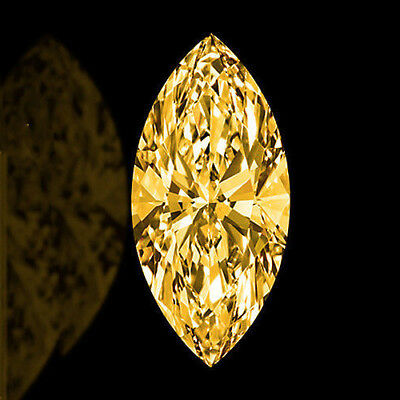 Diamant/Brillant/Moissanite 0,66 ct. VS2  8,95x4,40 mm  Fancy Yellow Brown  1a