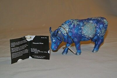 "Cow Parade ""Wisconsin Winter""  #7752 with Tag and Original Box"