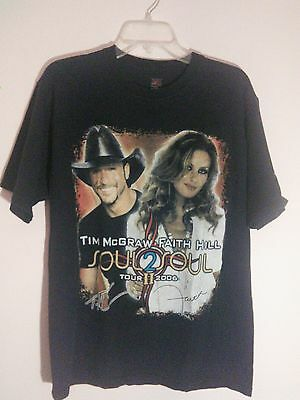 2006 McGraw/Hill Soul To Soul Black Large Tpur T-Shirt Country