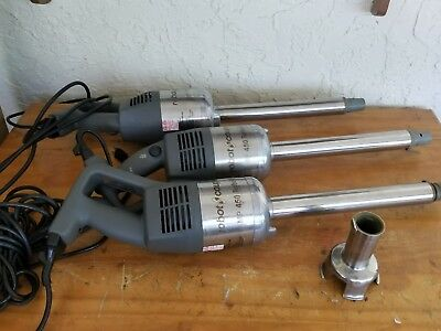 """Lot Of 3 Robot Coupe No 450 Turbo 18"""" Immersion Blender Stick Mixer Ad/is"""