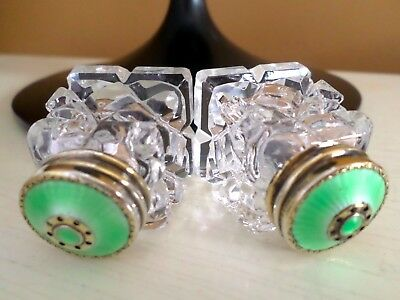 Hroar Prydz Norway Sterling Silver Enamel Guilloche Salt & Pepper Shakers 925 Ag