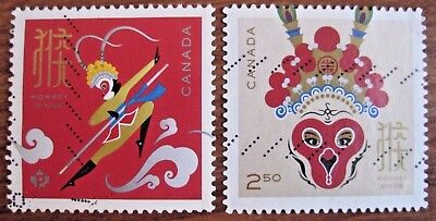 Canada used F-VF International value Year of the Monkey complete set 2016. Rare!