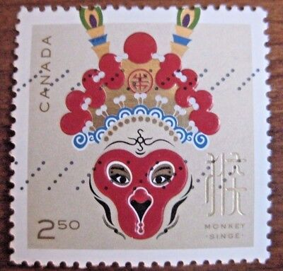 Canada used International value Year of Monkey from souvenir sheet 2016. Rare!