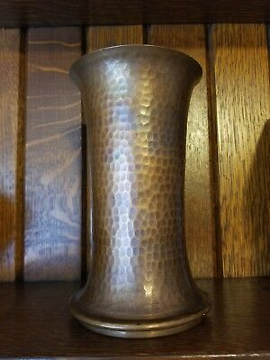 Hammered copper vase arts and crafts movement