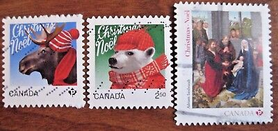 Canada used almost complete set Christmas international value 2015. Look!