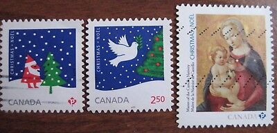Canada used almost complete set Christmas international value 2016. Rare!