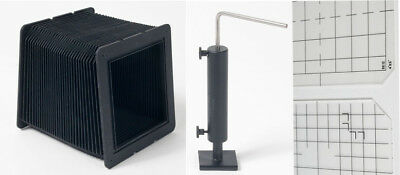 """Cambo camera parts, 30"""" bellows, support, glass backs"""
