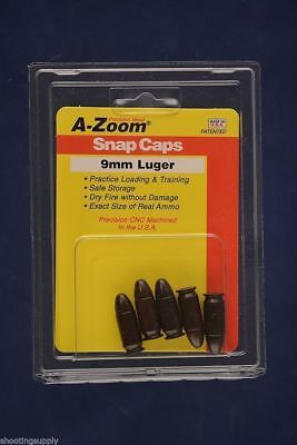 A-Zoom Snap Caps for 9mm Luger 5-Pack azoom New In Package #15116