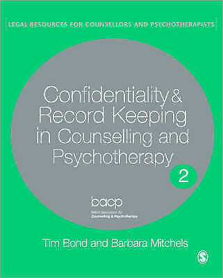 Confidentiality and Record Keeping in Counselling and Psychotherapy-ExLibrary