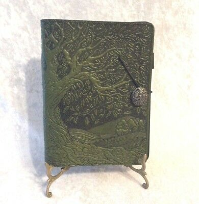 DISCONTINUED Oberon Design Three Ring Journal Planner Green Tree of Life RARE