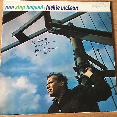 Jackie McLean One Step Beyond Blue Note US  43 West 61st St w. autograph NM
