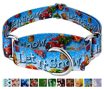 Country Brook Petz® Martingale Dog Collar - Christmas Collection