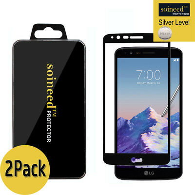 [2-Pack] SOINEED LG Stylo 3 / Plus Full Cover Tempered Glass Screen Protector
