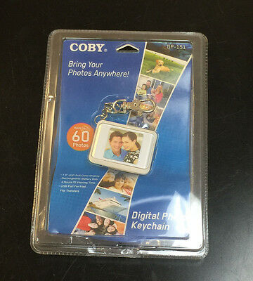 "Coby Digital Photo Keychain DP-151 White 1.5"" LCD Full Color Display"