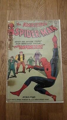 The Amazing Spiderman 10 1st Enforcers appearance Marvel Silver Age Low grade