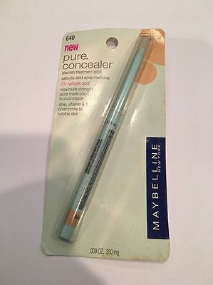 Maybelline PURE CONCEALER Blemish Treatment Stick ~CARDED~ #640 MEDIUM