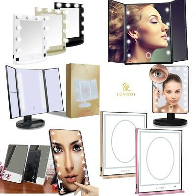 Xmas Portable Professional Makeup 8-22 Bathroom LED Mirror Tabletop Touch Light